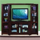 "Kathy Ireland by Martin Carlton 88"" Entertainment Wall Unit in Bourbon"