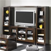 "Kathy Ireland by Martin Carlton 98"" Entertainment Wall Unit in Bourbon"
