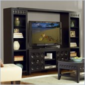 Kathy Ireland by Martin Crescent 101 Entertainment Wall Unit in Black