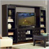 "Kathy Ireland by Martin Crescent 101"" Entertainment Wall Unit in Black"