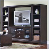 "Kathy Ireland by Martin Empire 106"" Entertainment Wall Unit in Java"