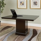 Kathy Ireland by Martin Fulton Square Conference Table in Espresso