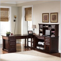 Kathy Ireland Home by Martin Mount View 4 Piece L-Shaped Desk Set