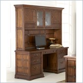 Kathy Ireland by Martin Portland Loft Credenza Desk w/ Hutch in Clove