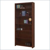 "Martin Furniture Spring Hill 80"" Open Bookcase in Mission Finish"