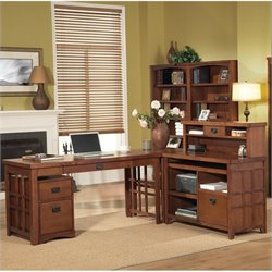 Kathy Ireland Home by Martin Mission Pasadena 4 Piece L-Shaped Desk Set