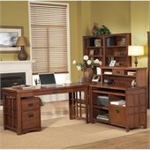Kathy Ireland by Martin Mission Pasadena 4pc L-Shaped Desk