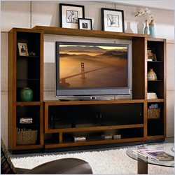Martin Furniture Gravity 106 Wall Entertainment Center in Caramel