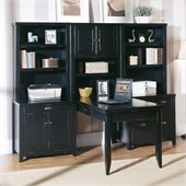 Kathy Ireland Home by Martin Tribeca Loft Peninsula Office Set in Black