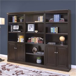 Kathy Ireland Home by Martin Fulton 3 Piece Wall Bookcase Set
