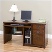 Kathy Ireland Home by Martin Fuwrniture California Bungalo Wood Computer Desk in Cherry