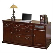 Kathy Ireland Home by Martin Furniture Huntington Club Wood Storage Credenza in Distressed Cherry