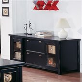 Kathy Ireland Home by Martin Tribeca Loft Black Storage Credenza