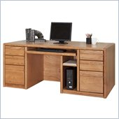 Kathy Ireland Home by Martin Furniture Contemporary 68 Solid Wood Computer Desk in Oak