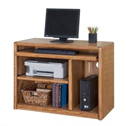 Martin Furniture Contemporary Wood Computer Cart in Medium Oak