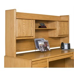 Martin Furniture Contemporary Bookshelf Hutch in Medium Oak