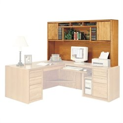 Martin Furniture Contemporary Deluxe Hutch in Medium Oak