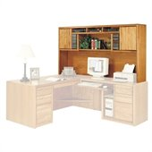 Kathy Ireland Home by Martin Furniture Contemporary Deluxe Solid Wood Hutch in Oak