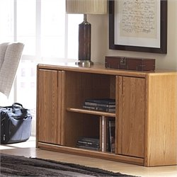 Martin Furniture Contemporary Wood Storage Credenza in Medium Oak