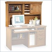 Kathy Ireland Home by Martin Furniture Huntington Oxford Organizer Desk Hutch in Wheat