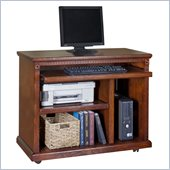 Kathy Ireland Home by Martin Furniture Huntington Oxford Wood Computer Cart in Distressed Burnish