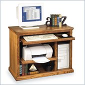 Kathy Ireland Home by Martin Furniture Huntington Oxford Wood Computer Cart in Distressed Wheat