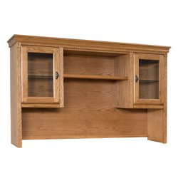 Martin Furniture Huntington Oxford Storage Hutch in Wheat