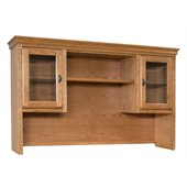 Kathy Ireland Home by Martin Furniture Huntington Oxford Storage Hutch with Pull-Out Task Light Bridge in Wheat