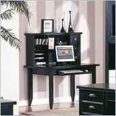 Kathy Ireland Home by Martin Furniture Tribeca Loft Writing Desk with Hutch in Black 
