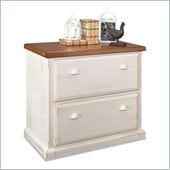 Kathy Ireland Home by Martin Furniture Southampton 2 Drawer Lateral Wood File Storage in Distressed Oyster