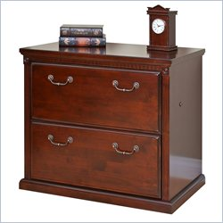 Kathy Ireland Home by Martin Huntington Club 2 Drawer Lateral File in Vibrant Cherry