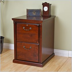 Kathy Ireland Home by Martin Huntington Club 2-Drawer File Cabinet in Vibrant Cherry