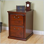 Kathy Ireland Home by Martin Furniture Huntington Club 2 Drawer Solid Wood Vertical File Storage Cabinet in Distressed Cherry