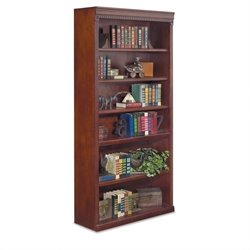 Kathy Ireland Home by Martin Huntington Club 6-Shelf Bookcase in Vibrant Cherry