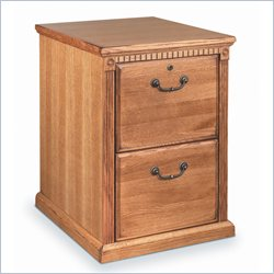Martin Furniture Huntington Oxford 2 Drawer Vertical File Cabinet in Distressed Wheat