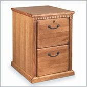 Kathy Ireland Home by Martin Furniture Huntington Oxford 2 Drawer Vertical Wood File Cabinet in Distressed Wheat