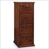 Kathy Ireland Home by Martin Furniture Huntington Oxford 4 Drawer Vertical Wood File Storage Cabinet in Distressed Burnish