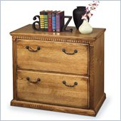 Kathy Ireland Home by Martin Furniture Huntington Oxford Lateral 2 Drawer Wood File Storage Cabinet in Wheat