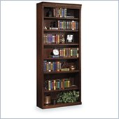 Kathy Ireland Home by Martin Furniture Huntington Oxford 7-Shelf 84H Wood Bookcase in Burnish