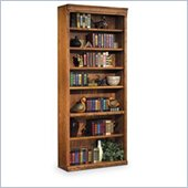 Kathy Ireland Home by Martin Furniture Huntington Oxford 7 Shelf 84H Wood Bookcase in Wheat