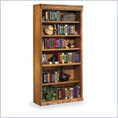 Kathy Ireland Home by Martin Furniture Huntington Oxford 6 Shelf 72H Wood Bookcase in Wheat