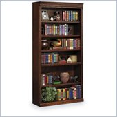 Kathy Ireland Home by Martin Furniture Huntington Oxford 6 Shelf 72 H Wood Bookcase in Burnish