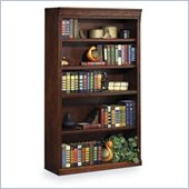 Kathy Ireland Home by Martin Furniture Huntington Oxford 5-Shelf 60 H Wood Bookcases in Burnish