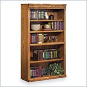 Kathy Ireland Home by Martin Furniture Huntington Oxford 5 Shelf 60H Wood Bookcase in Wheat
