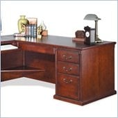 Kathy Ireland Home by Martin Furniture Huntington Club Solid Wood Left Hand Facing 68 W Executive Desk in Distressed Cherry