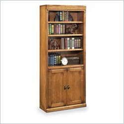 Kathy Ireland Home by Martin Huntington Oxford Bookcases With Lower Doors in Wheat