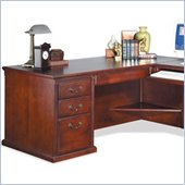 Kathy Ireland Home by Martin Furniture Huntington Club Right Hand Facing 68 W Executive Desk in Distressed Cherry