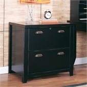 Kathy Ireland by Martin Furniture Tribeca Loft Lateral File in Black