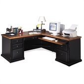 Kathy Ireland Home by Martin Furniture Southampton 68 Desk for Right Hand Facing Keyboard Return in Oynx Black