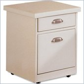 Kathy Ireland Home by Martin Furniture Tribeca Loft Office 2 Drawer Mobile Wood File Storage Cabinet in White